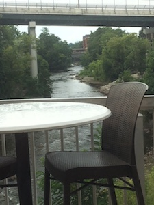Burntwood Tavern in Cuyahoga Falls View of River From Restaurant