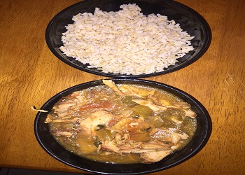 chicken and vegetables with rice
