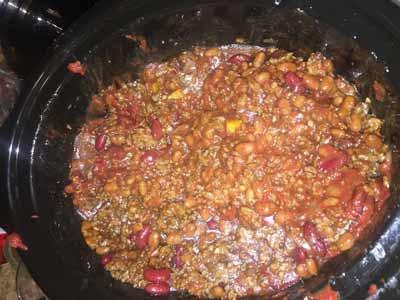finished chili recipi