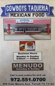 Cowboys Taqueria restaurant located in TERRELL, TX