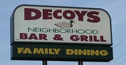 Decoys Bar and Grill restaurant located in MICHIGAN CITY, IN