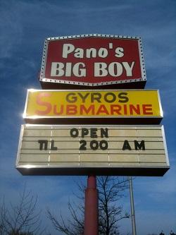 Panos Big Boy restaurant located in CALUMET CITY, IL