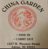 China Garden Restaurant restaurant located in ADRIAN, MI