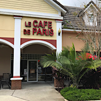 Le Cafe de Paris restaurant located in ORLANDO, FL