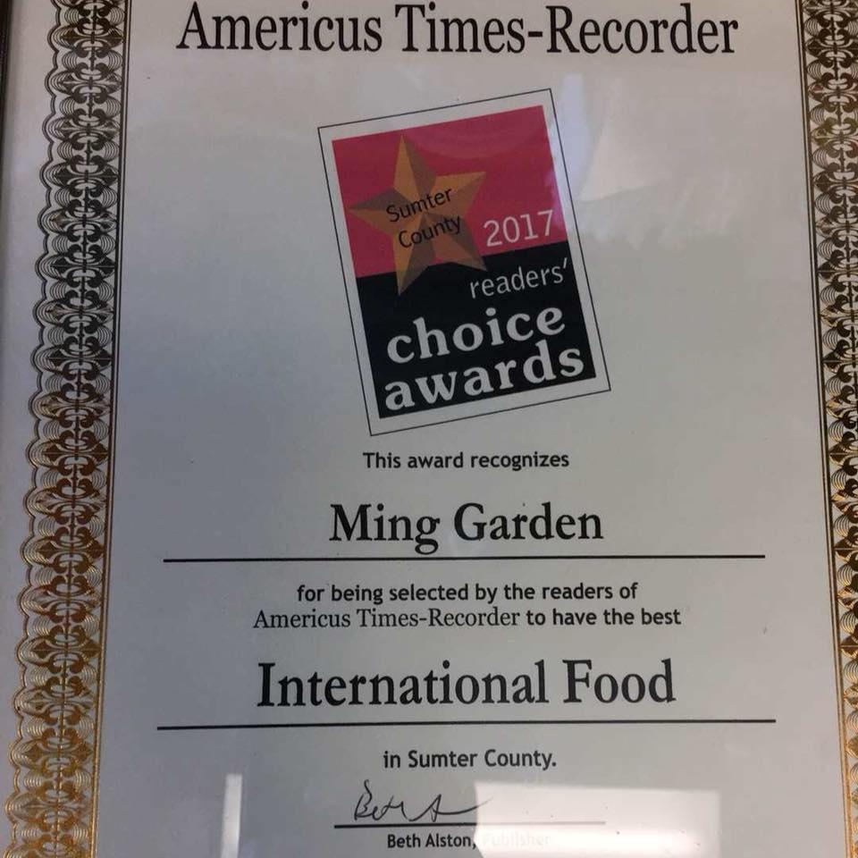 Ming Garden restaurant located in AMERICUS, GA