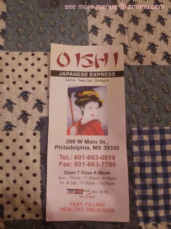 Oishi Japanese Express restaurant located in PHILADELPHIA, MS
