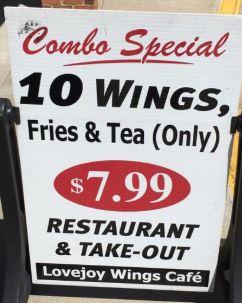 Lovejoy Wings Cafe restaurant located in HAMPTON, GA