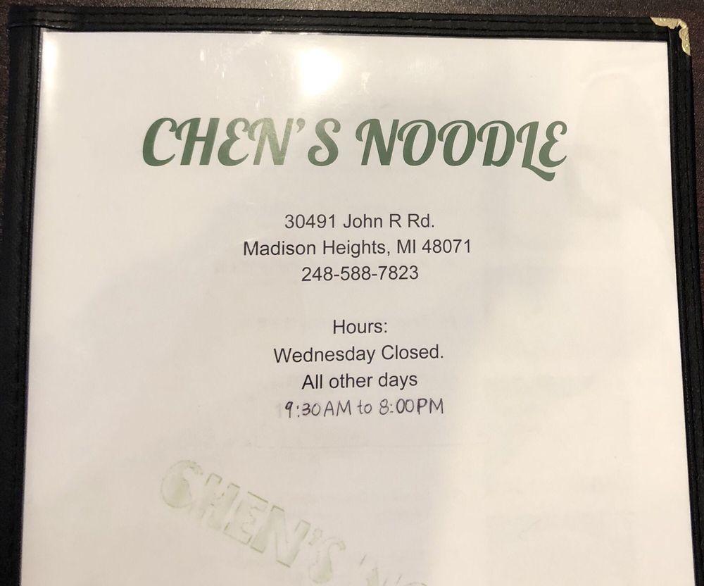 Chen's Noodle