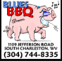 Blues BBQ restaurant located in SOUTH CHARLESTON, WV