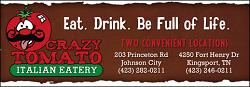Crazy Tomato restaurant located in KINGSPORT, TN