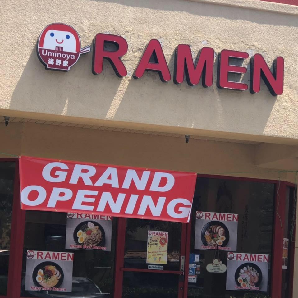 Uminoya ramen restaurant located in CHINO, CA