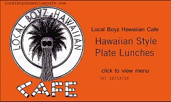 Local Boyz Hawaiian Cafe restaurant located in CORVALLIS, OR