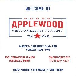 Applewood Vietnamese Restaurant restaurant located in GOLDEN, CO