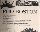 Pho Boston restaurant located in FLORENCE, MA