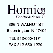 Homie Hot Pot & Sushi restaurant located in BLOOMINGTON, IN