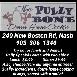 The Pully Bone restaurant located in NASH, TX